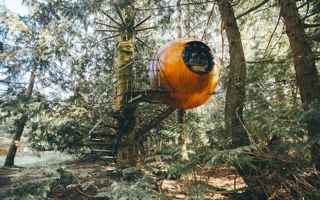 The Free Spirit Spheres on Vancouver Island, Canada